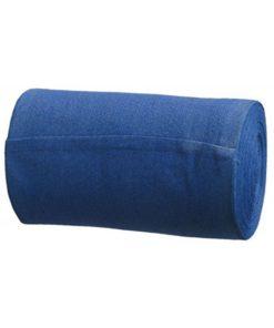 blauwe katoenen handdoekrol